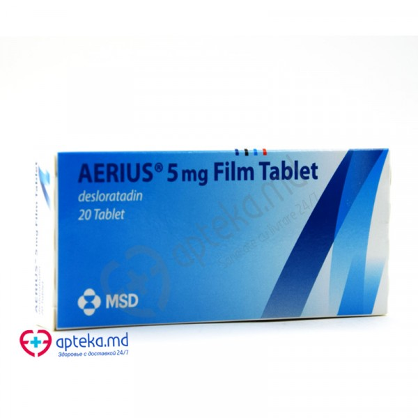 Aerius comp. film. 5 mg N20