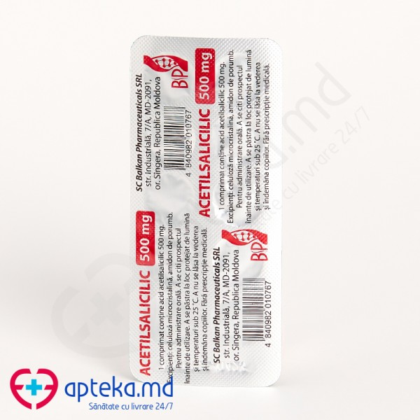 Acid acetilsalicilic comp. 500 mg N10